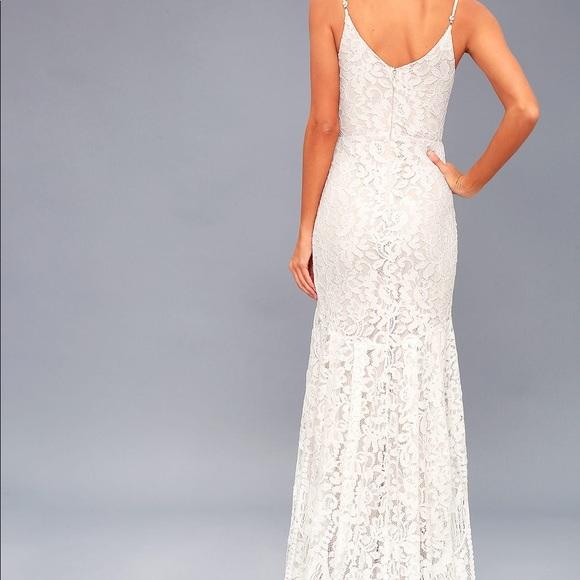 5d2cb979d Lulu's Dresses   Flynn White Lace Maxi Dress   Poshmark